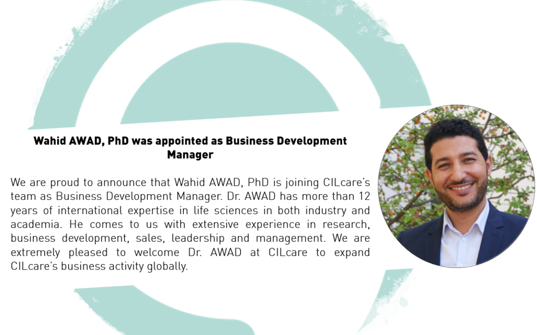 Appointment of Dr. Awad as Business Development Manager