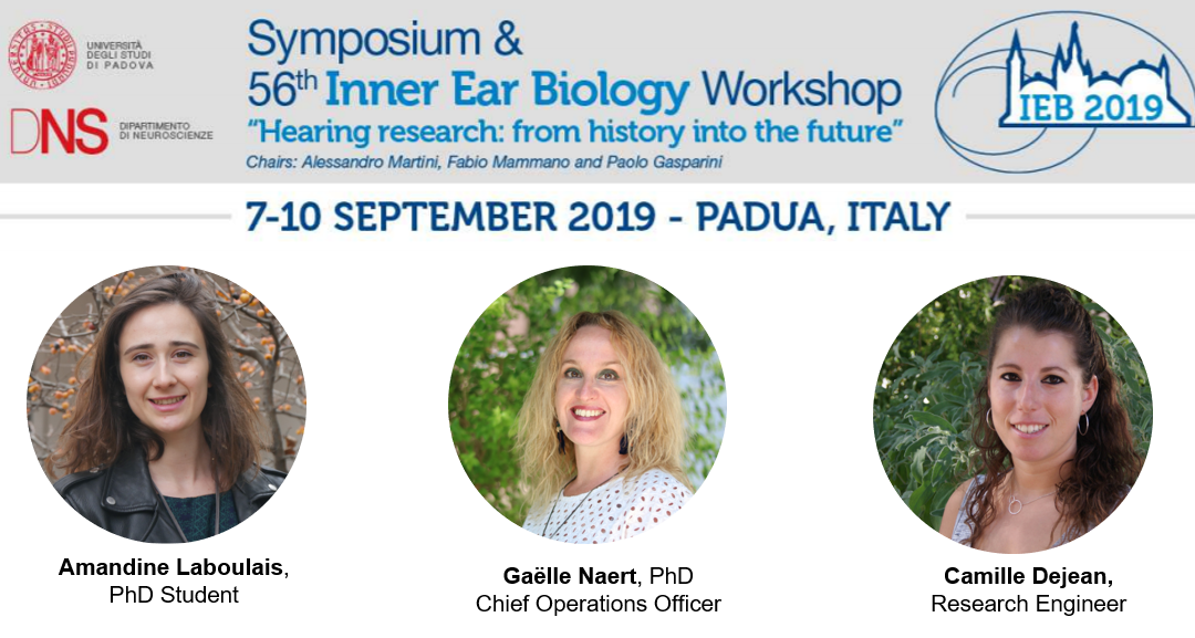 Meet CILcare at the Inner Ear Biology Workshop on September 7-10, 2019 in Pradua