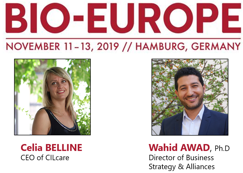 Meet CILcare at the BioEurope event on November 11-13, 2019 in Hamburg