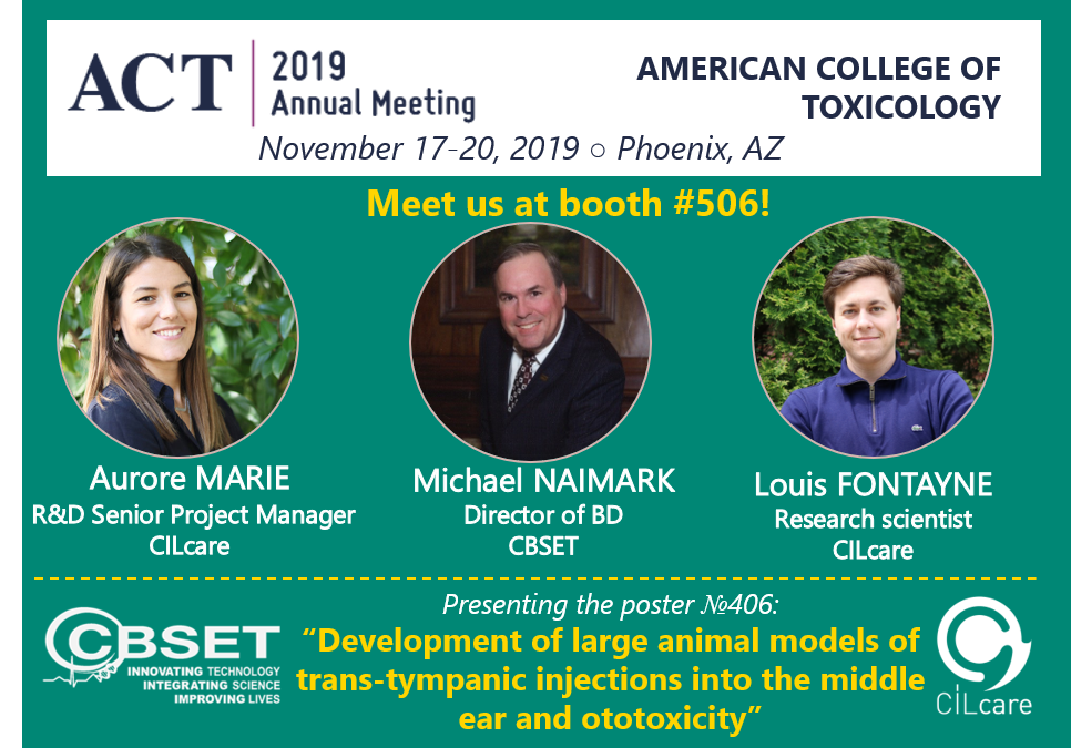 Meet CILcare & CBSET at our booth #506 at the ACT event on November 17-20, 2019 in Phoenix, AZ