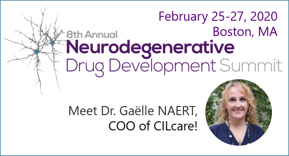 Meet CILcare's COO at Neurodegenerative Drug Development Summit on February 25-27 in Boston