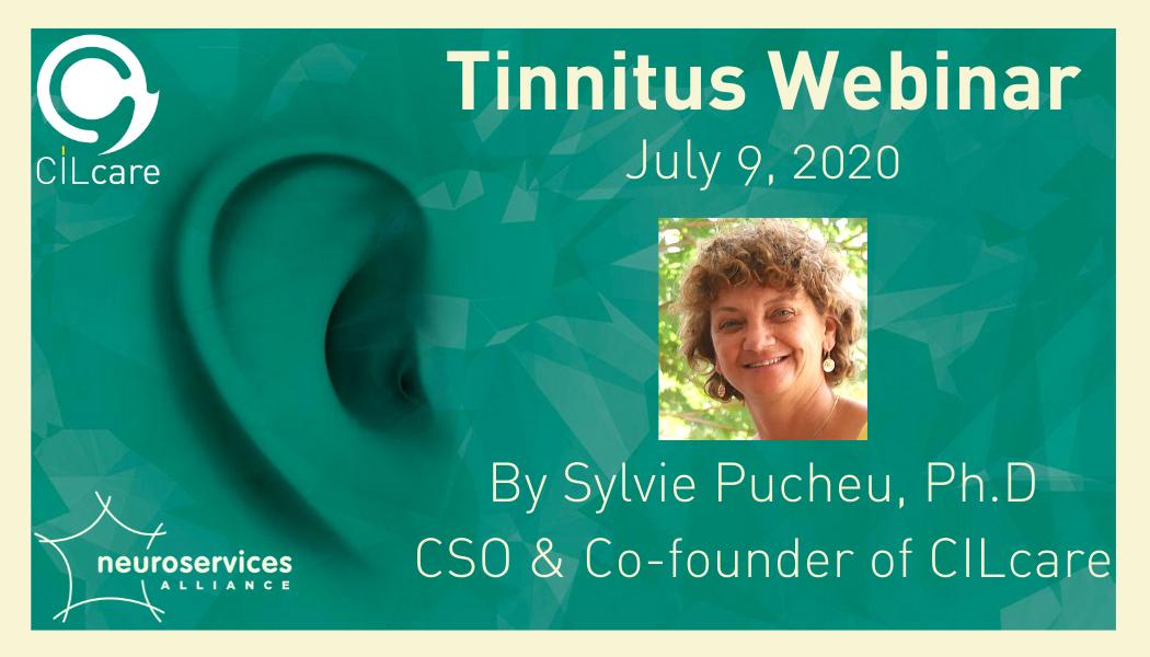 Sylvie Pucheu present a tinnitus webinar