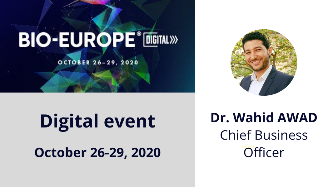 CILcare will attend BIO-Europe Digital on October 26-29, 2020