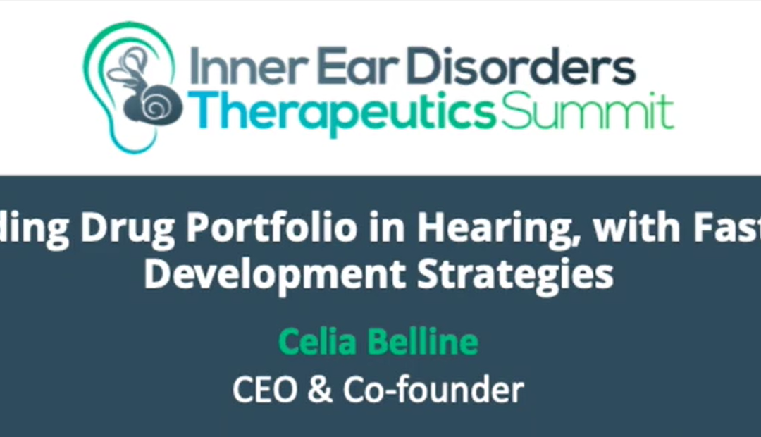 Replay: Expanding Drug Portfolio in Hearing, with Fast-Track Development Strategies